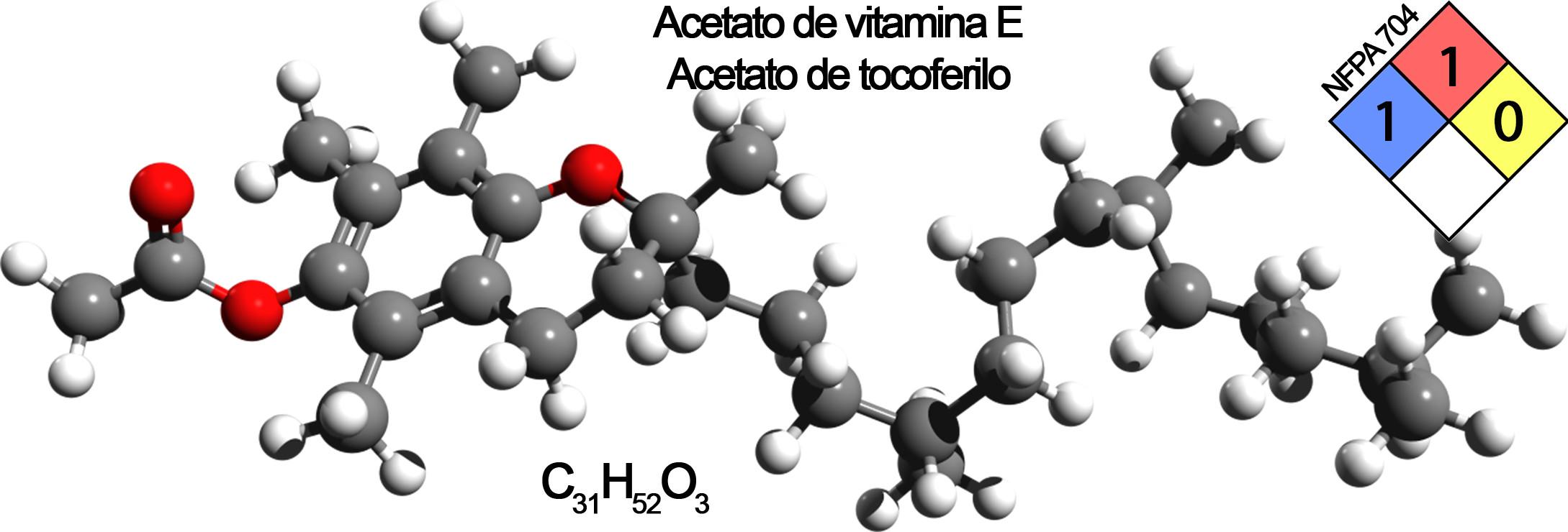 acetato de vitamina E composicion marcado vapear