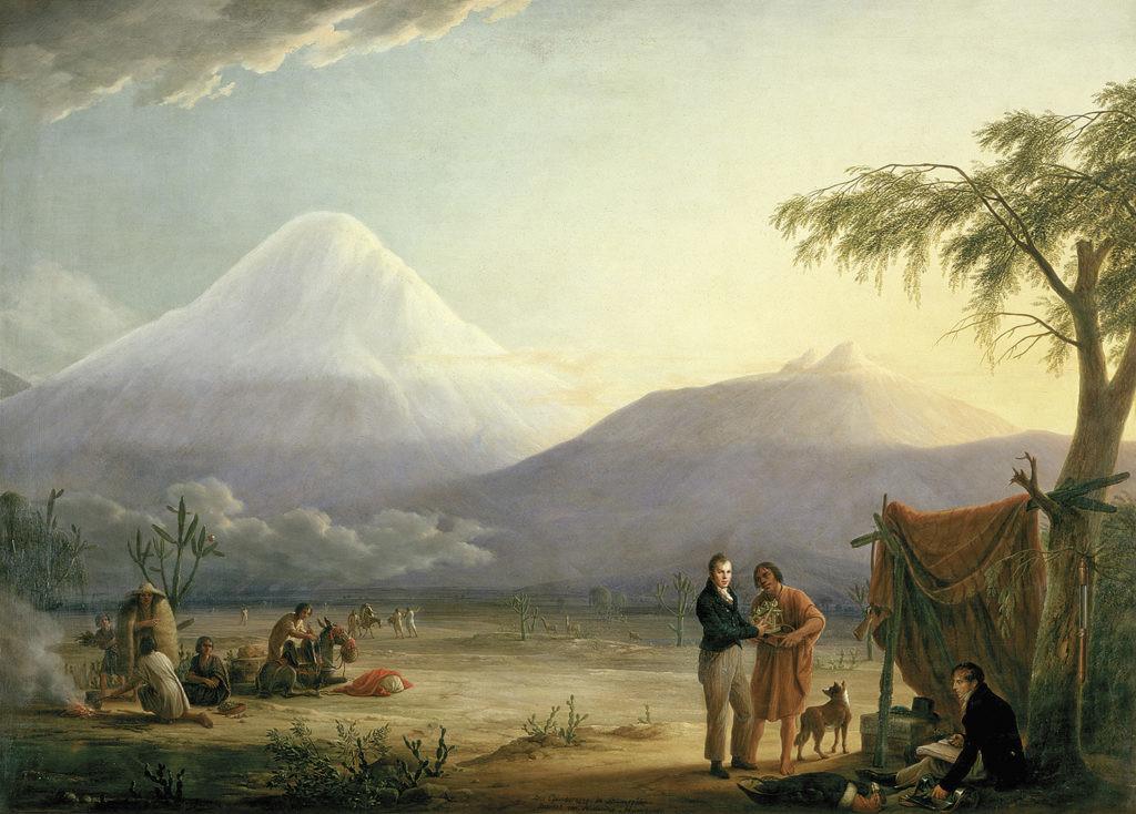 humboldt en el ascenso al volcán