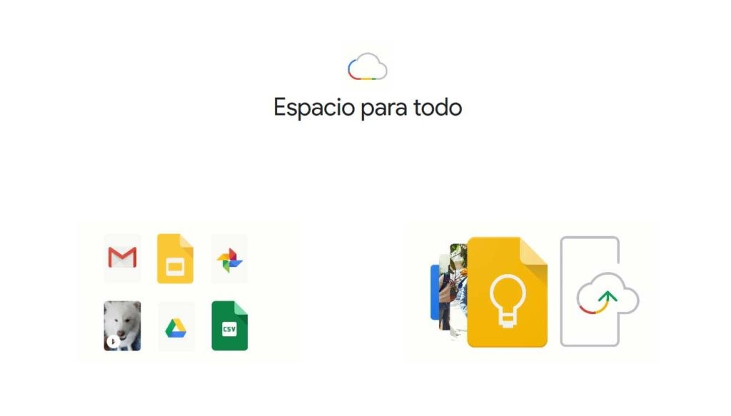 almacenamiento con Google One