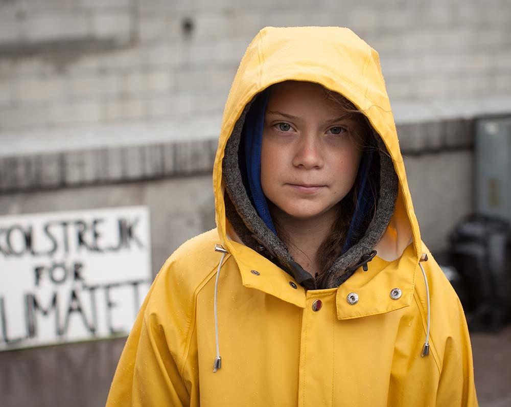 líders climáticos que acompañan a Greta Thunberg