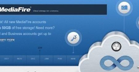 MediaFire, 50 GB de espacio gratuito en la nube para tus archivos