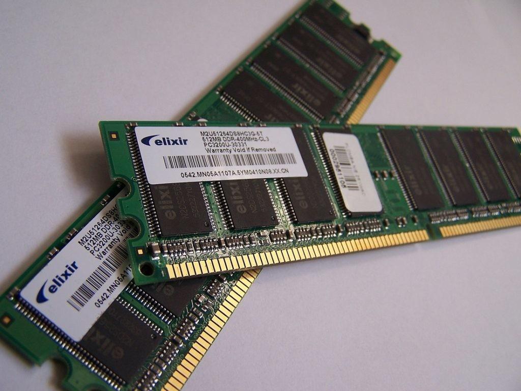 Memoria RAM: componentes de un PC