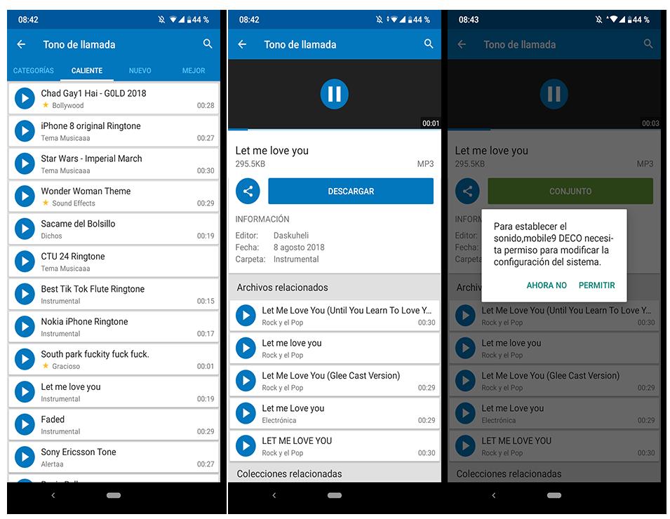 descargar tonos de llamada gratis para movil mobile9