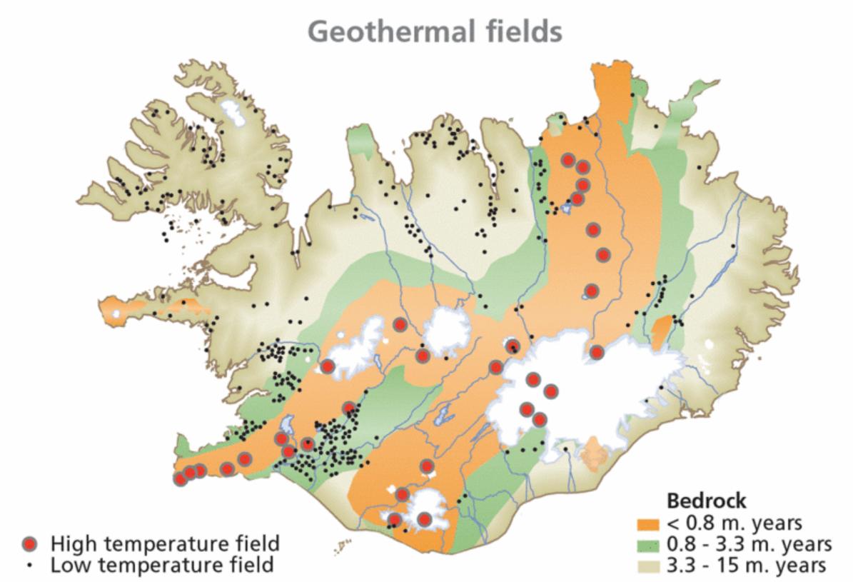 Fuentes de energía geotérmica. Muchas sirven para alimentar los invernaderos de Islandia.