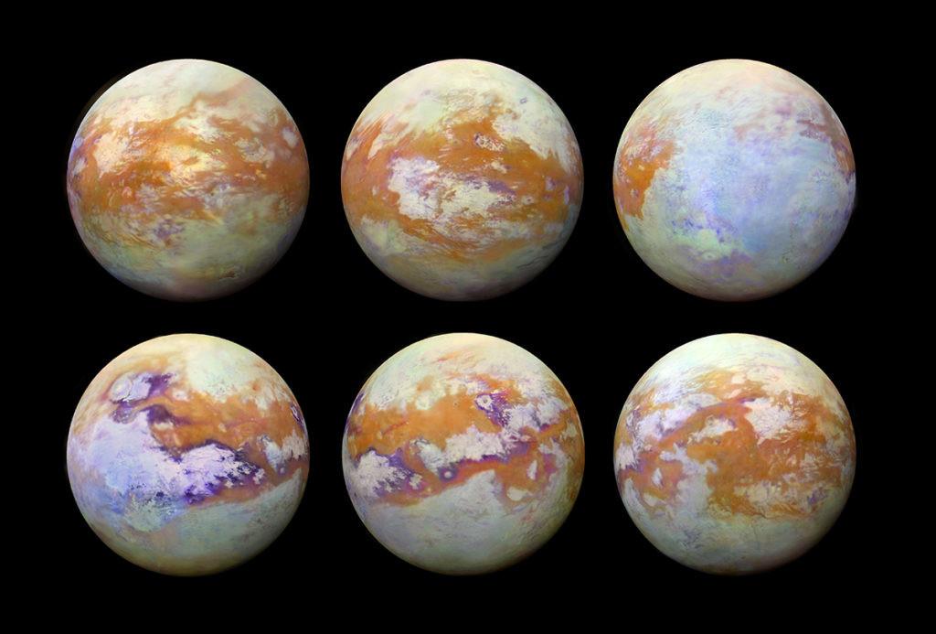 imágenes de Titán recreadas en base a los datos