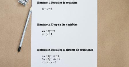 resolver ecuaciones de primer grado