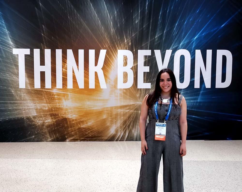 Maitane Alonso en el evento Intel ISEF en Phoenix