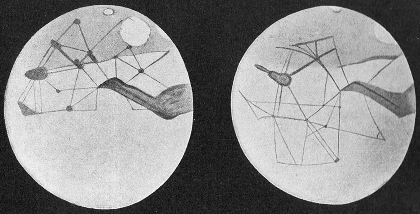 mapa de los canales de Percival Lowell