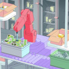 robots en un almacén. Covariant