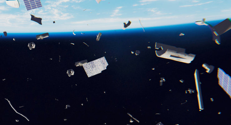 sindrome de kessler espacio restos basura espacial