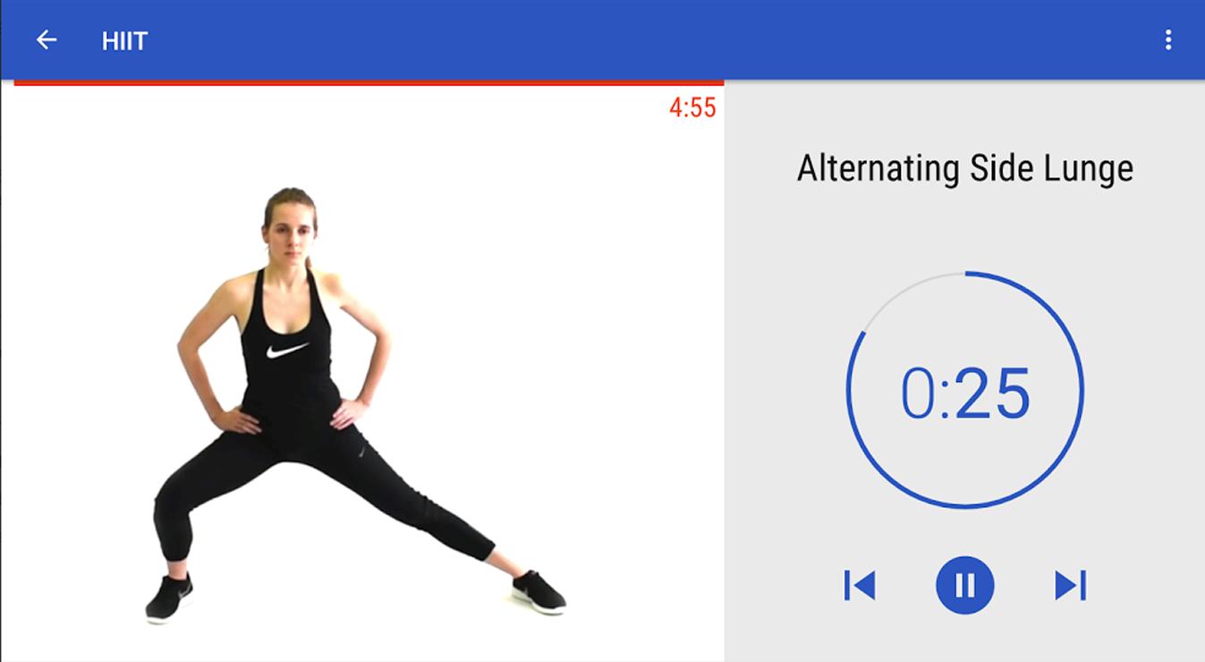 HIIT app ejercicios