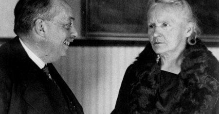 Blas Cabrera con Marie Curie en 1931