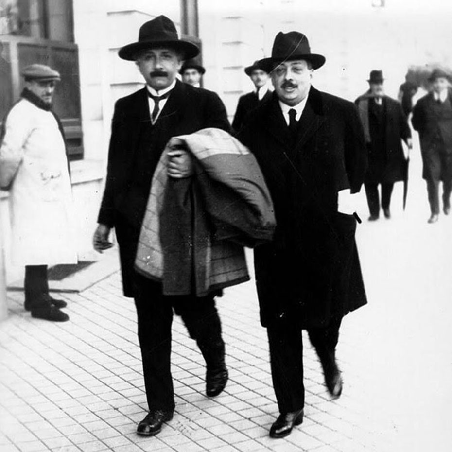 Einstein con Blas Cabrera en Madrid