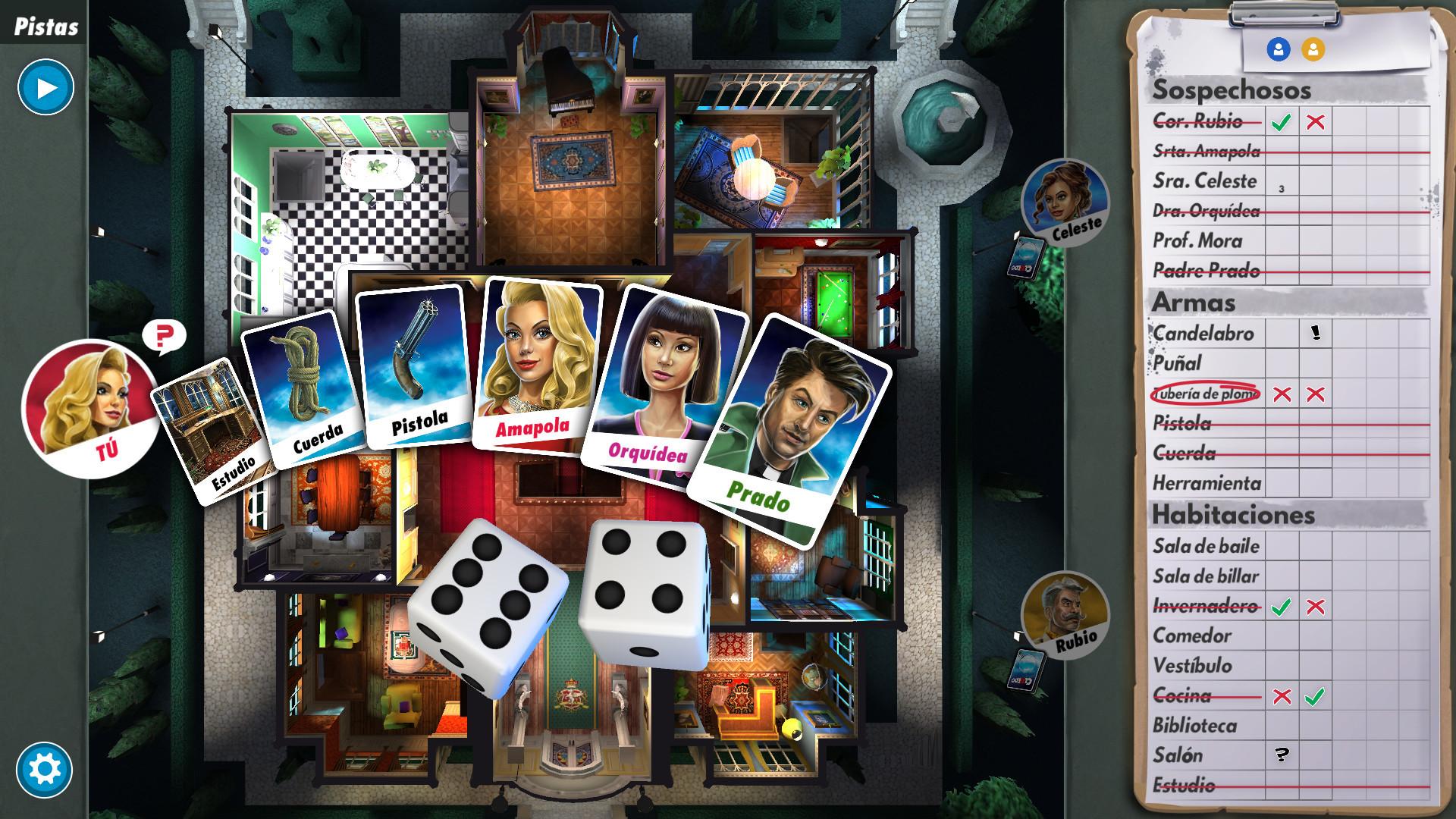 cluedo juegos de mesa online