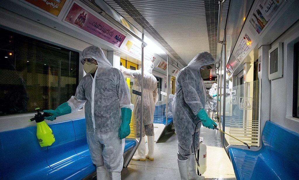 medidas de desinfección en Teherán, Irán