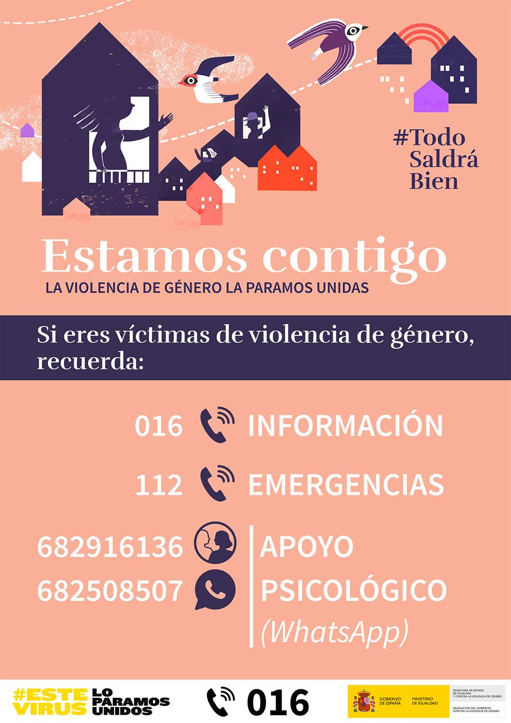 Estamos contigo contra la violencia de género
