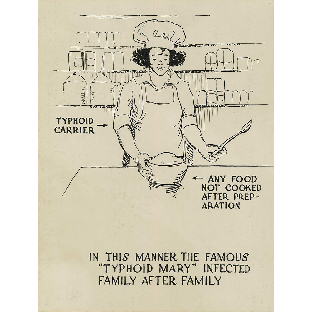 cartel de María TIfoidea
