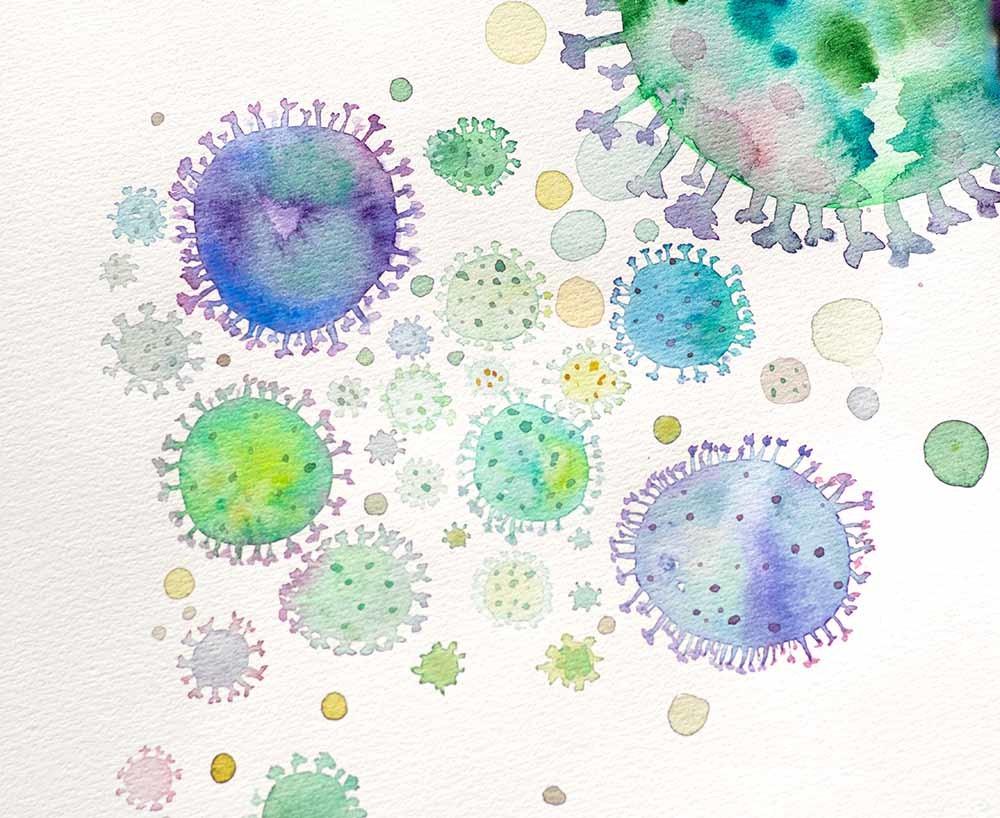 representación de un coronavirus