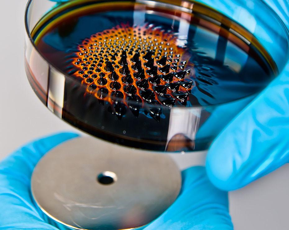 ferrofluidos iman neodimio comportamiento
