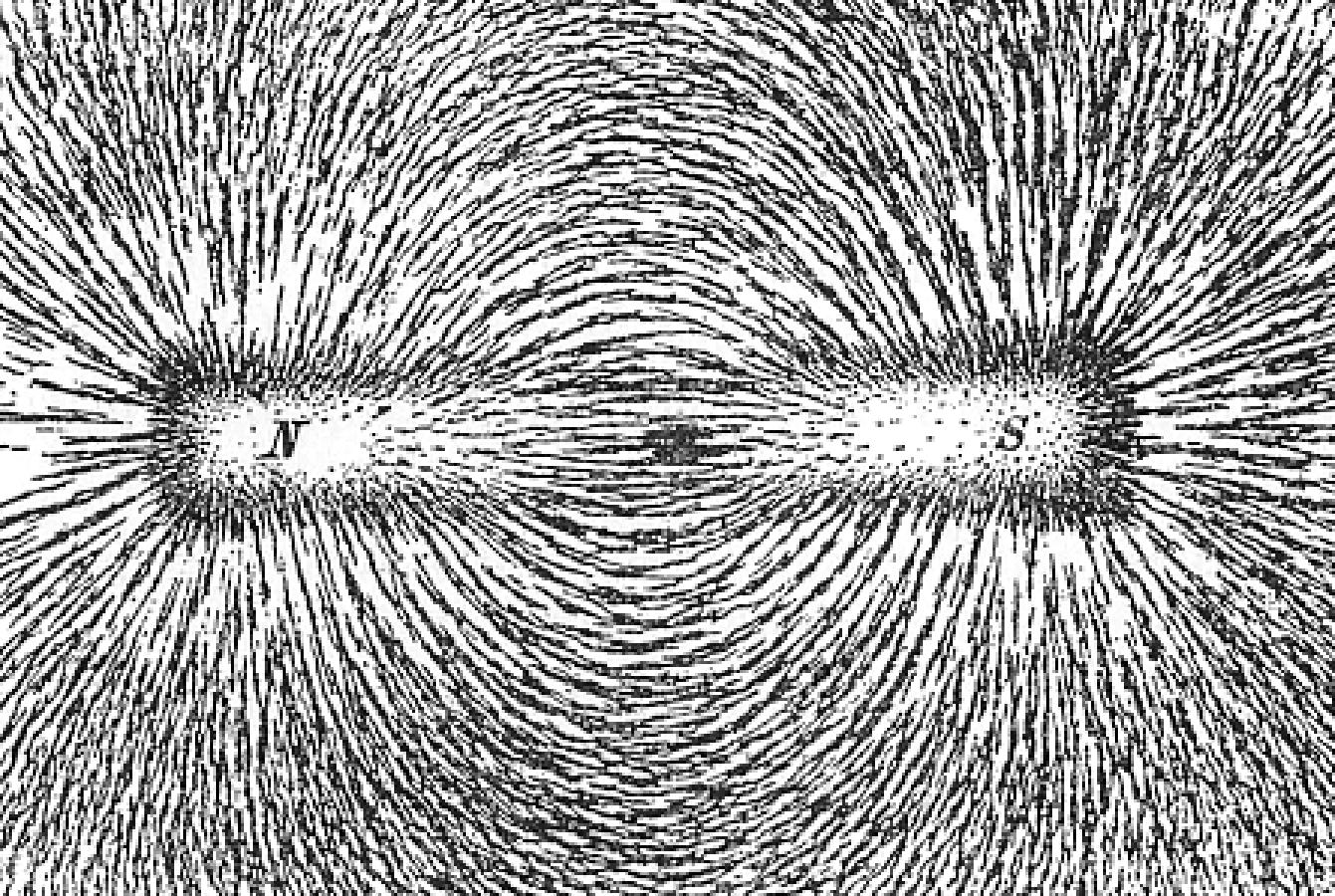 forma del campo magnetico limaduras de hierro
