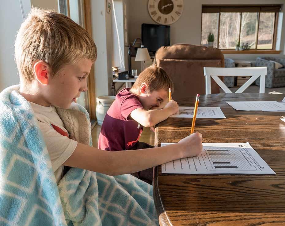Más de dos millones de niños de primaria están teleestudiando desde sus casas.