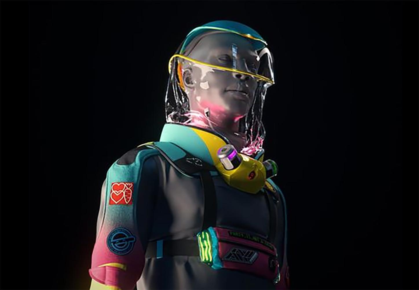 Traje inspirado en Daft Punk contra el coronavirus