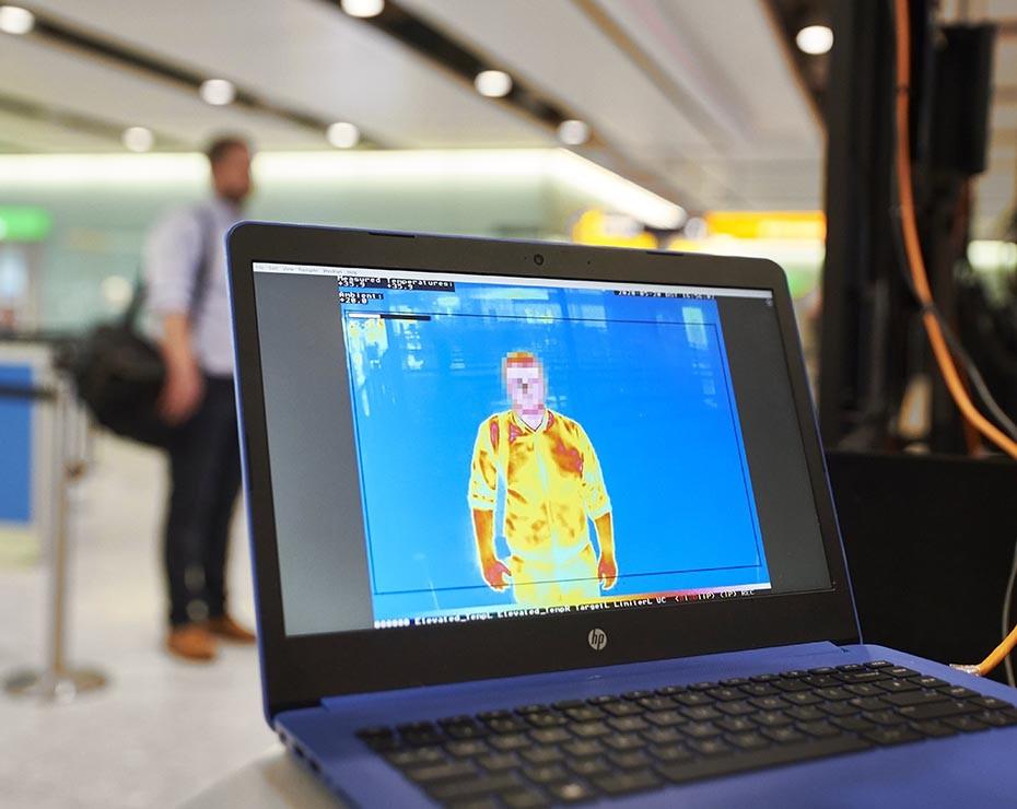 Sistemas de detección térmica en el aeropuerto de Heathrow.
