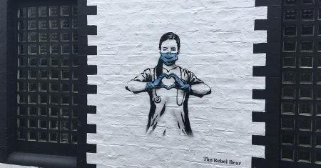 grafitis de la pandemia