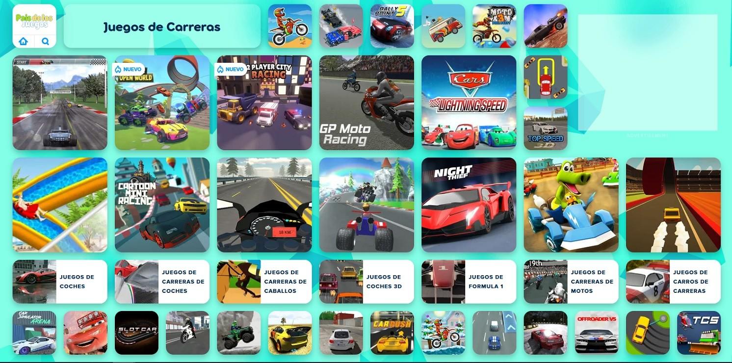 Pais de los juegos es una web con muchos juegos de carreras