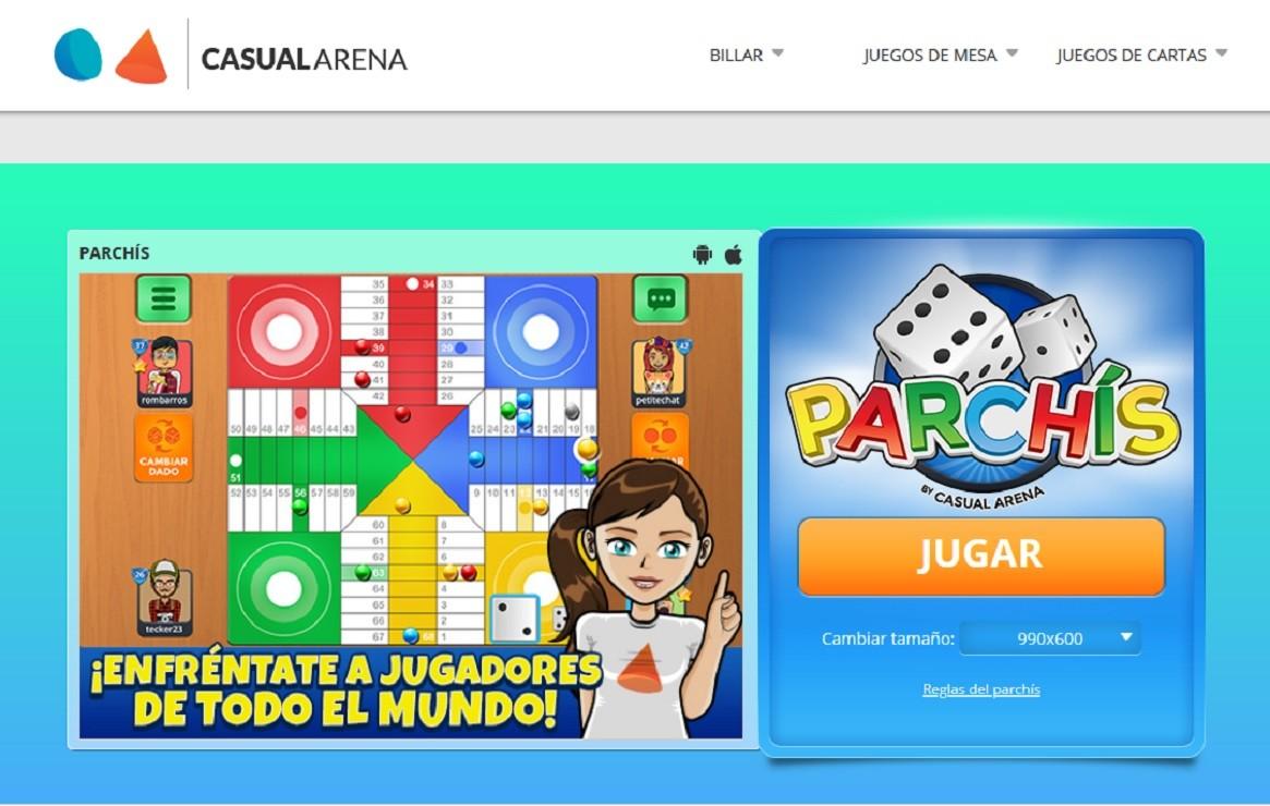 CasualArena, un site para jugar al parchís