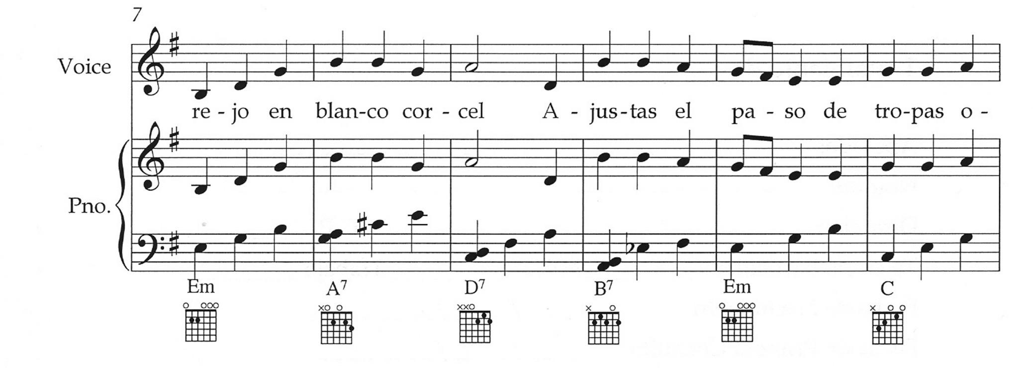 música ciencia y tecnología partitura piano y voz matematica fisica