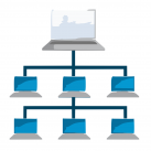 crear una red local