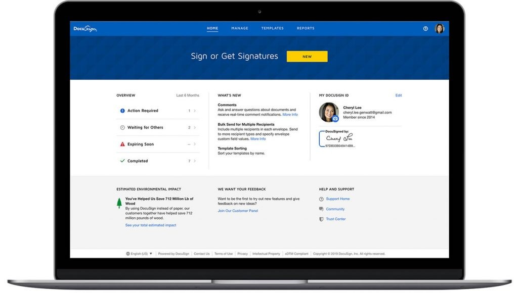 DocuSign para firmar documentos