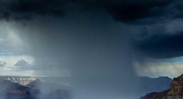 lluvia de microplásticos sobre el cañón del Colorado