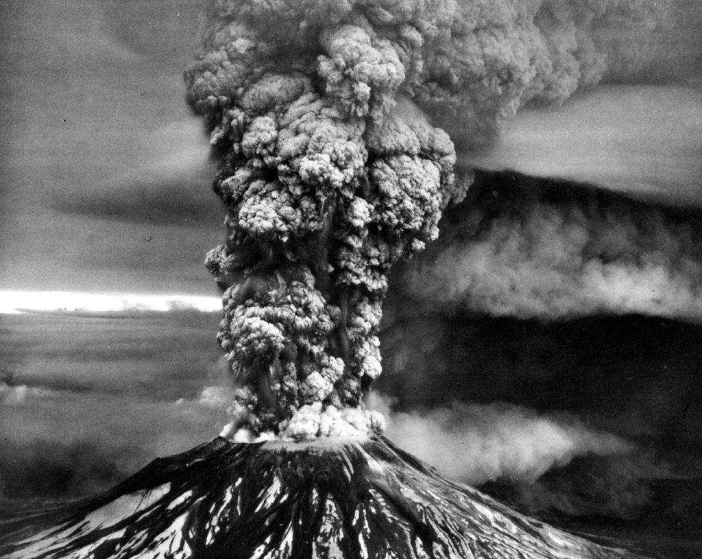 erupción del Mount St. Helens