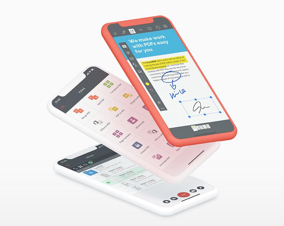 Existen opciones para separar PDF en versión app para móviles y tablets.