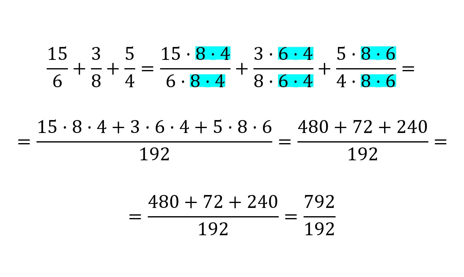 como no sumar fracciones