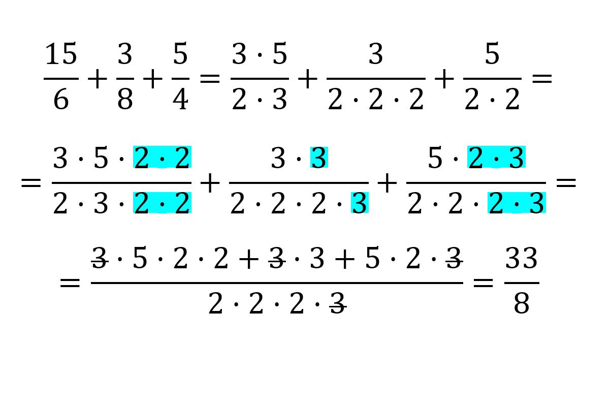 como sumar fracciones