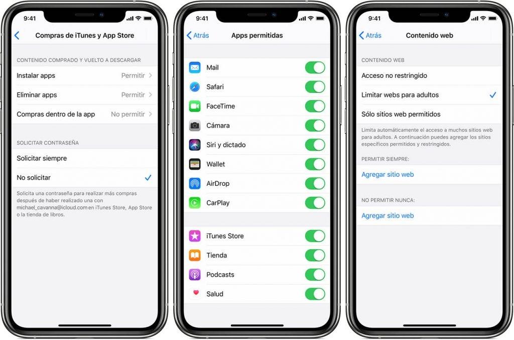restricciones en iOS