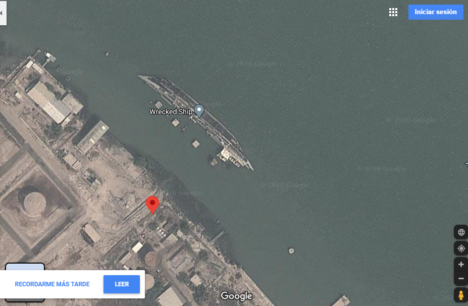 Barco hundido Irak