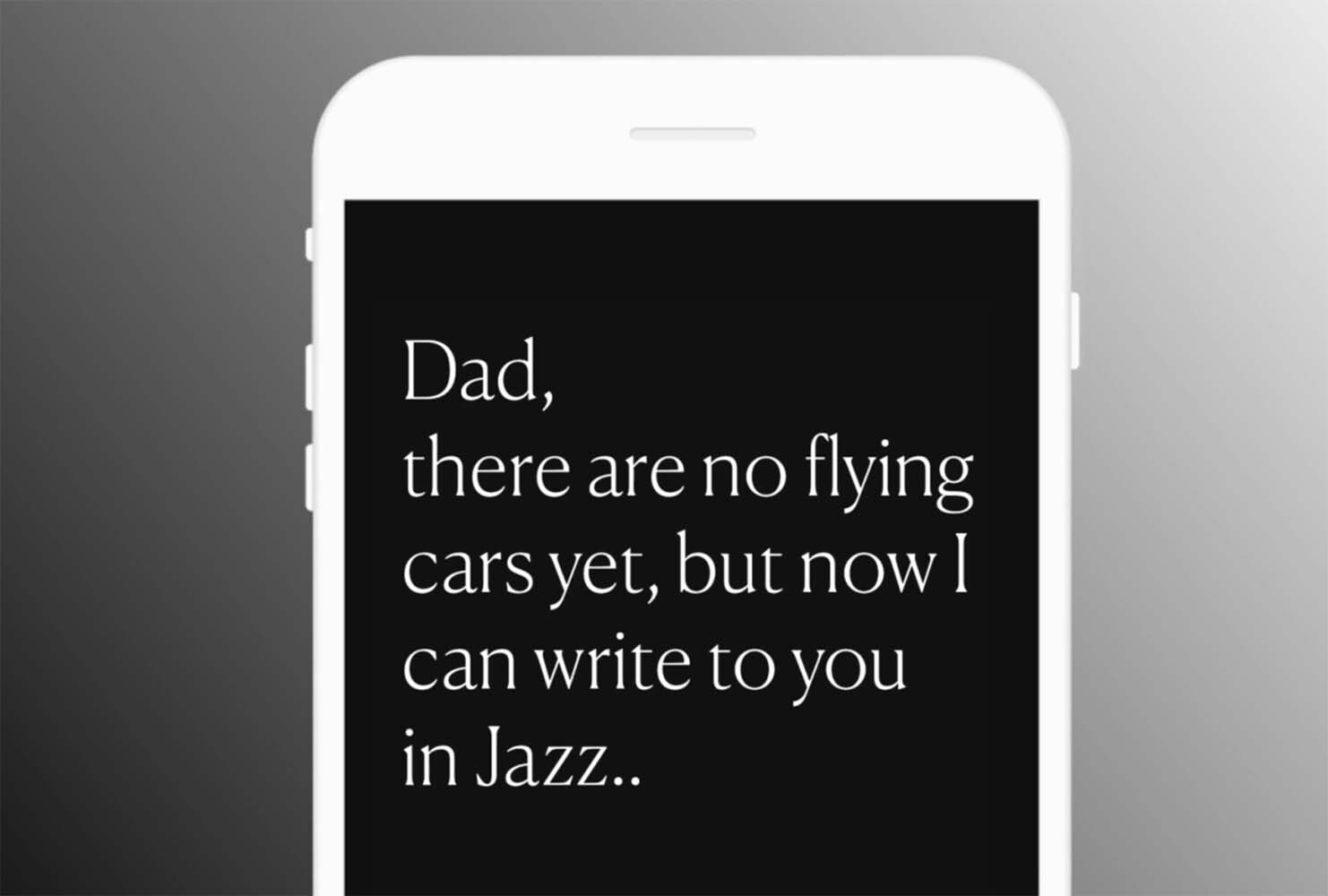 Mensajes con música jazz