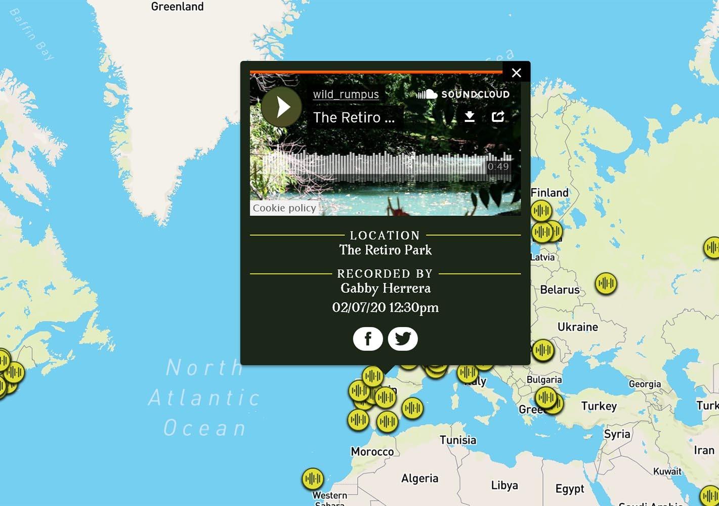 mapa sonoro bosques