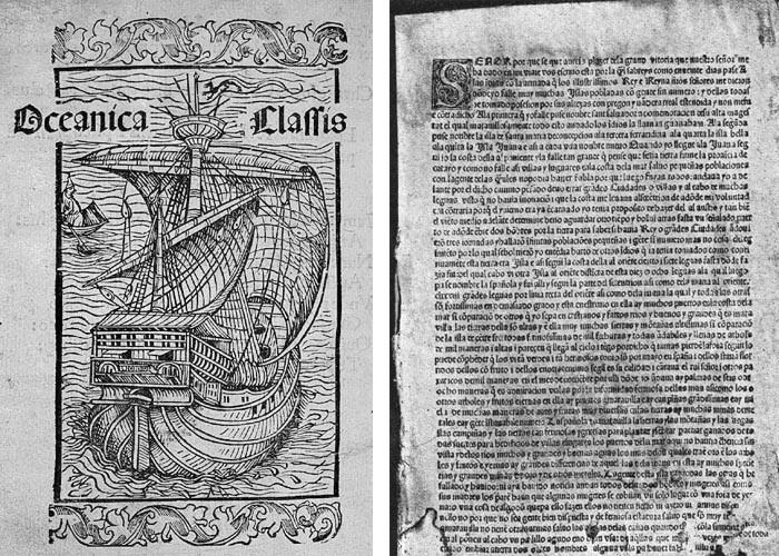 primera carta de Colón impresa