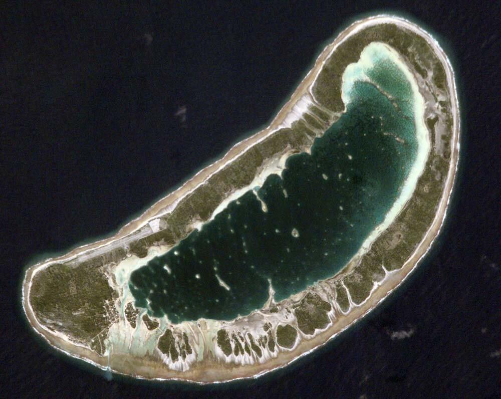atolón donde terminó el viaje de Kon-Tiki