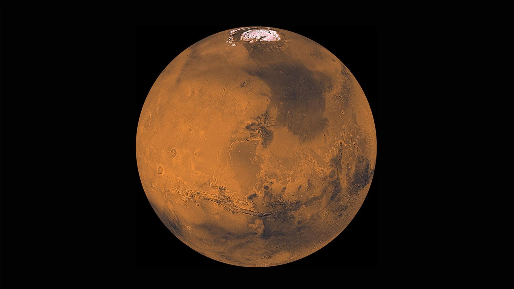 Marte esconde cuatro lagos de agua salada bajo su superficie