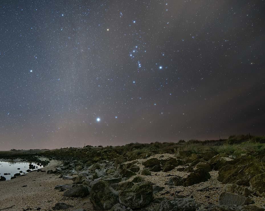 Orión es una constelación que puede verse tanto en el hemisferio sur como en el norte.