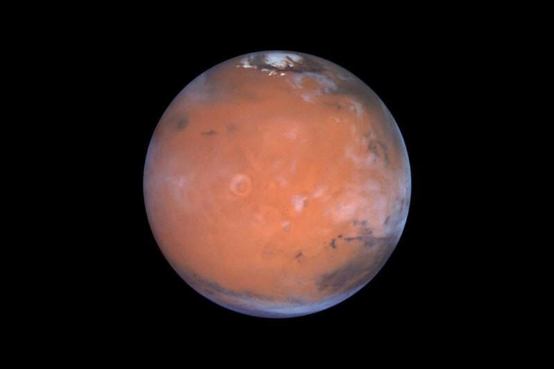 hielos en el planeta rojo