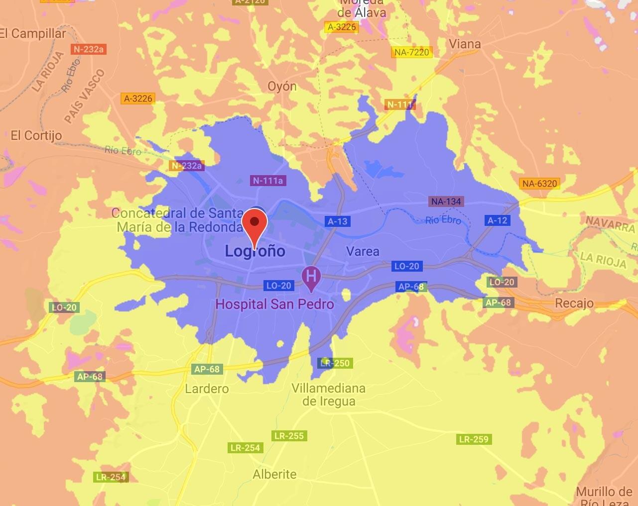 Cobertura 5G de Orange en Logroño