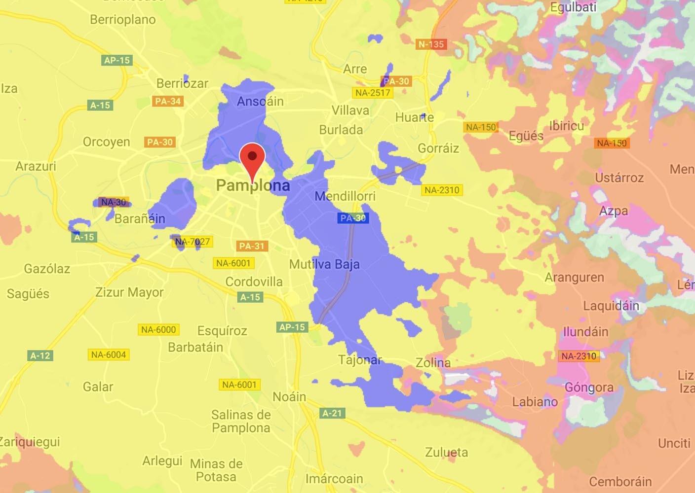 Cobertura 5G de Orange en Pamplona