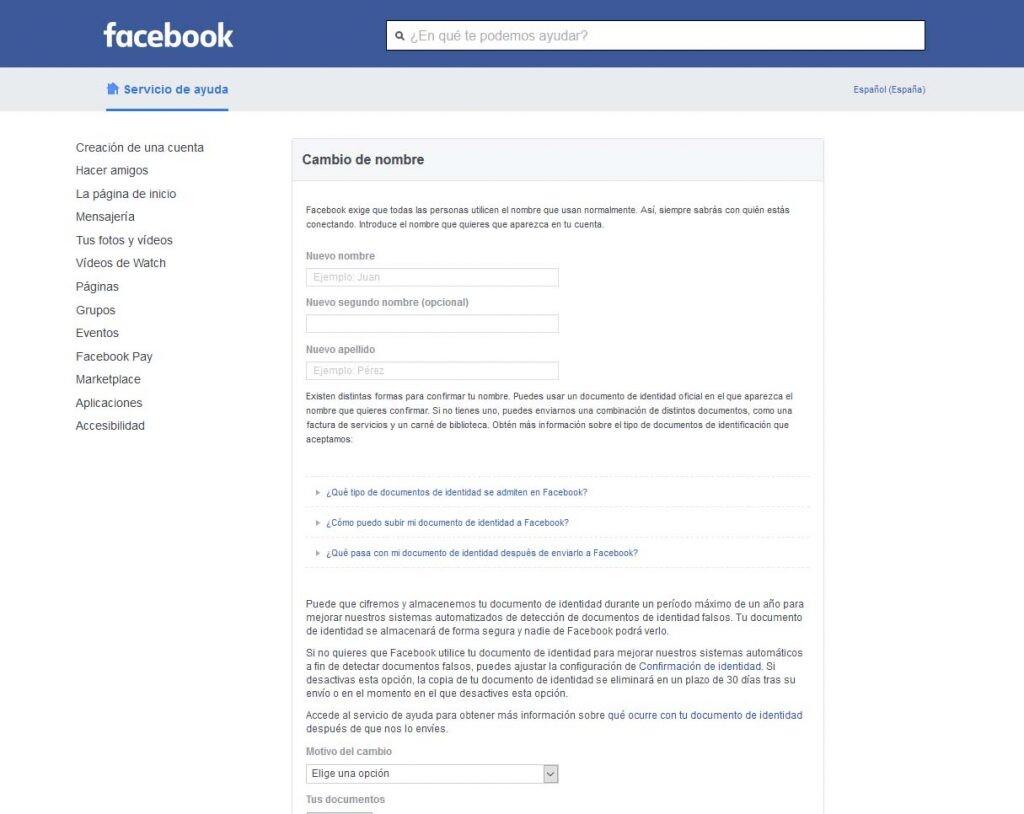 Nombre en facebook cambiar ¿Cómo poner
